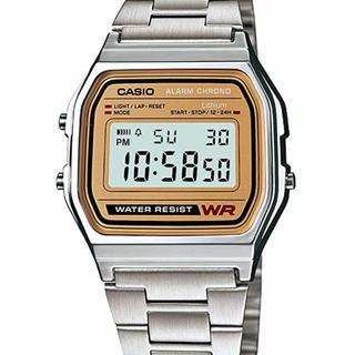 カシオ(CASIO)のカシオ CASIO A158WA-1JF チープカシオ シルバー 新品未開封(腕時計(デジタル))