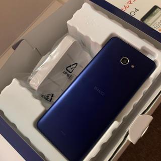 キョウセラ(京セラ)のau  BASIO4  ロイヤルブルー  SIMフリー(スマートフォン本体)