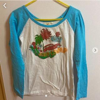 ロキシー(Roxy)のroxy ロンT 水色 白(Tシャツ(長袖/七分))
