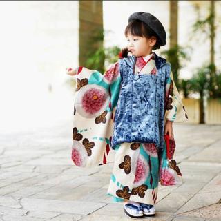 七五三 着物セット 被布コート 草履 3歳(和服/着物)