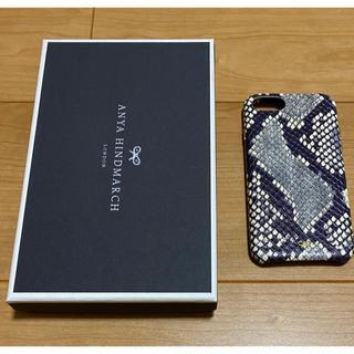 アニヤハインドマーチ(ANYA HINDMARCH)のアニヤハインドマーチ スマホケース iPhone SE2/7/8 パイソン(その他)