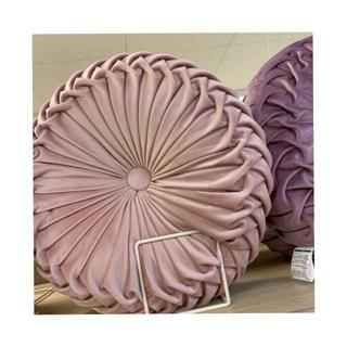 フランフラン(Francfranc)のニトリ ベルベットクッション ピンク(クッション)