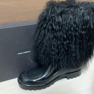 ドルチェアンドガッバーナ(DOLCE&GABBANA)の正規ドルガバ  ファー ショートブーツ ドルチェアンドガッバーナ(ブーツ)