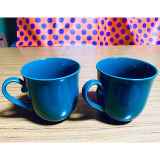 エイージーエフ(AGF)の2個セット ブレンディ マグカップ 緑 ノベルティ 非売品 グラス コップ(ノベルティグッズ)