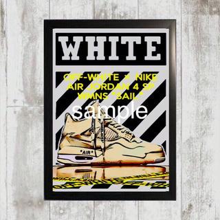 """ナイキ(NIKE)のOFF-WHITE × AIR JORDAN 4 SP WMNS """"SAIL""""(スニーカー)"""