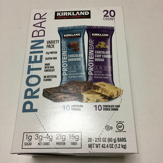 カークランド プロテインバー 1箱20個 チョコレート、チョコチップクッキー