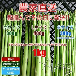 【クール便】アスパラ 1キロ アスパラガス 新鮮野菜(野菜)