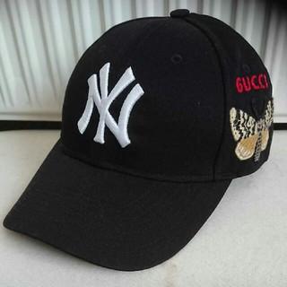 グッチ(Gucci)のグッチ ニューヨーク ヤンキース™ ベースボールキャップ バタフライ(キャップ)