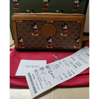 ディズニー(Disney)のGUCCI グッチ x ミッキー ディズニー コラボ 長財布(長財布)