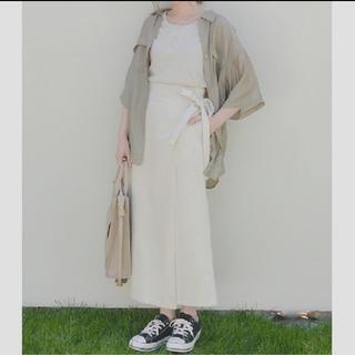シマムラ(しまむら)のプチプラのあやさんコラボ PAアサコンラップSK89  L(ロングスカート)