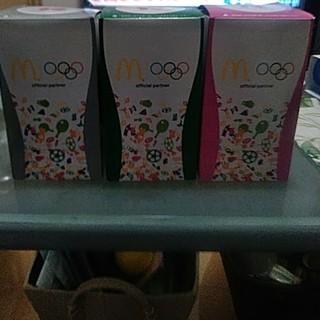 コカコーラ(コカ・コーラ)の新品!非売品 オリンピックとマクドナルドとコカ・コーラ コラボのグラス3セット(ノベルティグッズ)