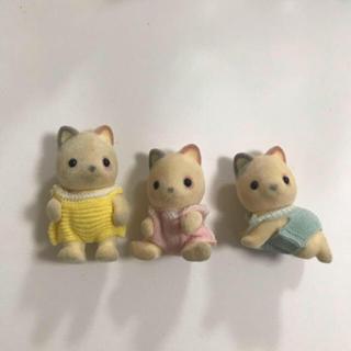 エポック(EPOCH)のシルバニア ミケネコ 赤ちゃん 3体 人形 みけねこ 三毛猫(その他)