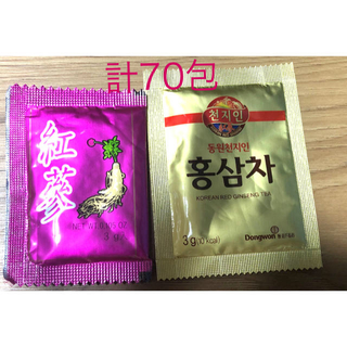 高麗人参茶20包+50包 計70包 お試しに2種類☆(茶)