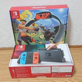ニンテンドースイッチ(Nintendo Switch)のswitch ringfit adventure セット 本体 リングフィット(家庭用ゲーム機本体)