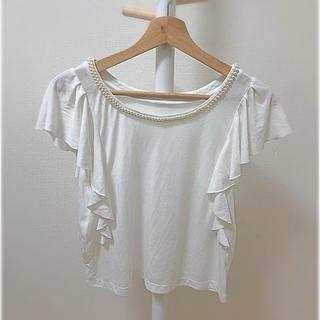 ココディール(COCO DEAL)の袖フリルトップス(Tシャツ(半袖/袖なし))