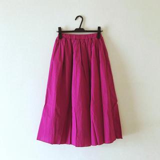 スピンズ(SPINNS)の【新品】SPINNS ミドル丈スカート FREE ピンク(ロングスカート)