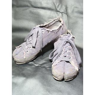 マルタンマルジェラ(Maison Martin Margiela)のMM6 マルタンマルジェラ キャンバス 足袋デッキシューズスニーカー靴(スニーカー)