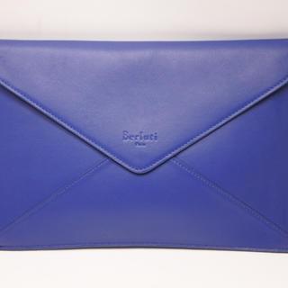 ベルルッティ(Berluti)のBerluti ベルルッティ クラッチバッグ レター型 ラージサイズ ブルー (セカンドバッグ/クラッチバッグ)