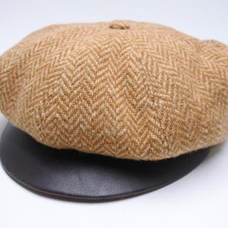 エルメス(Hermes)のHERMES エルメス CAP 帽子 キャスケット カシミア混 ブラウン 正規(キャスケット)