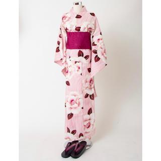 シマムラ(しまむら)の しまコレ限定 牡丹柄浴衣3点セット プチプラのあや(浴衣)