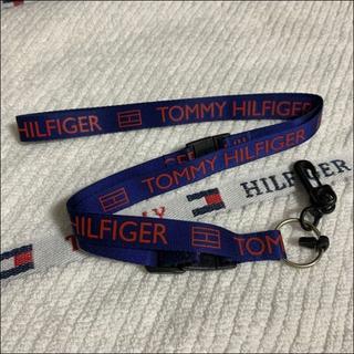 トミーヒルフィガー(TOMMY HILFIGER)のネックストラップ ランヤード ネイビー×レッド TOMMY HILFIGER(キーホルダー)