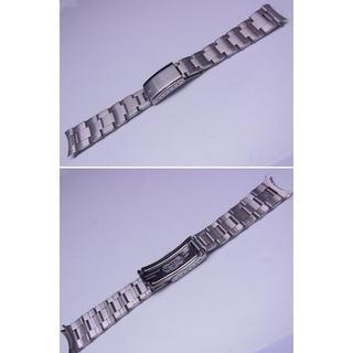 ロレックス(ROLEX)の20mm ストレートタイプのリベットブレス【バネ棒付き】(金属ベルト)