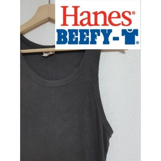 ヘインズ(Hanes)の【BEEFY-T】黒タンクトップ(タンクトップ)