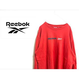 """リーボック(Reebok)の古着 """"Reebok"""" レッドスウェット(トレーナー/スウェット)"""