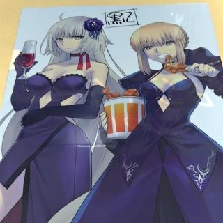 COMIC1☆11 ヒゲナシ メロンブックス特典 クリアファイル fate 黒八(クリアファイル)