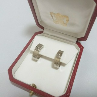 カルティエ(Cartier)のカルティエ ラブピアス WG CARTIER LOVE ホワイトゴールド(ピアス)
