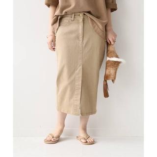 ドゥーズィエムクラス(DEUXIEME CLASSE)のDeuxieme Classe 新品  製品染めタイトスカート 34(ロングスカート)