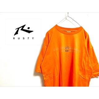 """ラスティ(RUSTY)の古着 """"RUSTY"""" オレンジTシャツ(Tシャツ/カットソー(半袖/袖なし))"""
