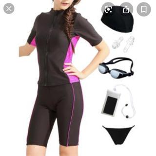 [グロウンチャーム] フィットネス水着 レディース 半袖(水着)