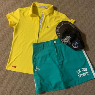 ルコックスポルティフ(le coq sportif)のゴルフウェアセット ポロシャツ スコート ワークキャップ(ウエア)