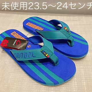 ハワイアナス(havaianas)の未使用ビーチサンダル青23.5〜24センチ(ビーチサンダル)