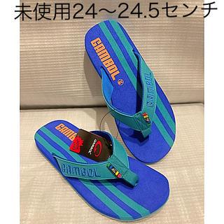 ハワイアナス(havaianas)の未使用ビーチサンダル青24〜24.5センチ(ビーチサンダル)