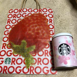 スターバックスコーヒー(Starbucks Coffee)のスターバックス チョコ缶 SAKURA VIAコーヒー付き(小物入れ)