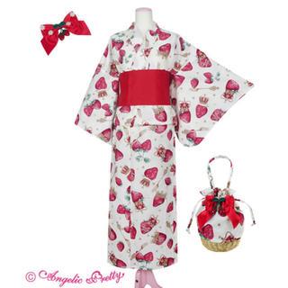 アンジェリックプリティー(Angelic Pretty)のRoyal Crown Berry 浴衣セット シロ(ひざ丈ワンピース)