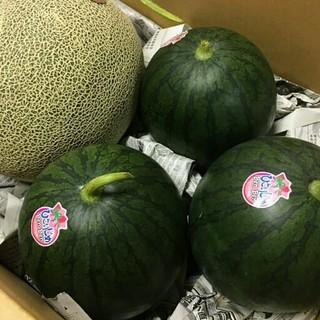 熊本県産小玉すいか3玉肥後グリーン1玉入りお買い得セット 送料込(フルーツ)