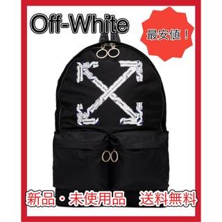 オフホワイト(OFF-WHITE)の【大セール】Off-White ブラック エアポートテープ バックパック(バッグパック/リュック)