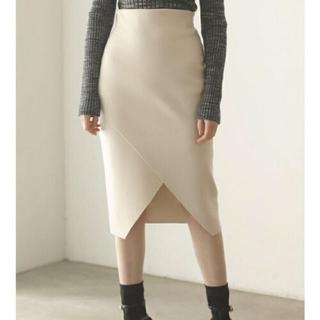 ラグナムーン(LagunaMoon)のラグナムーン   ホワイトタイトスカート(ひざ丈スカート)