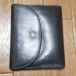 ホワイトハウスコックス(WHITEHOUSE COX)のWhitehousecox 三つ折りレザー財布 ブラック(折り財布)