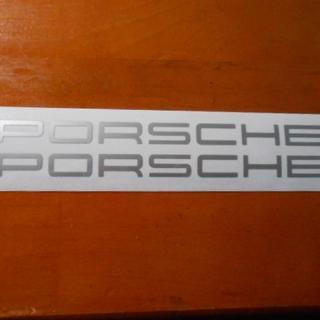 ポルシェ(Porsche)のポルシェ ステッカー 小 シルバー(車内アクセサリ)