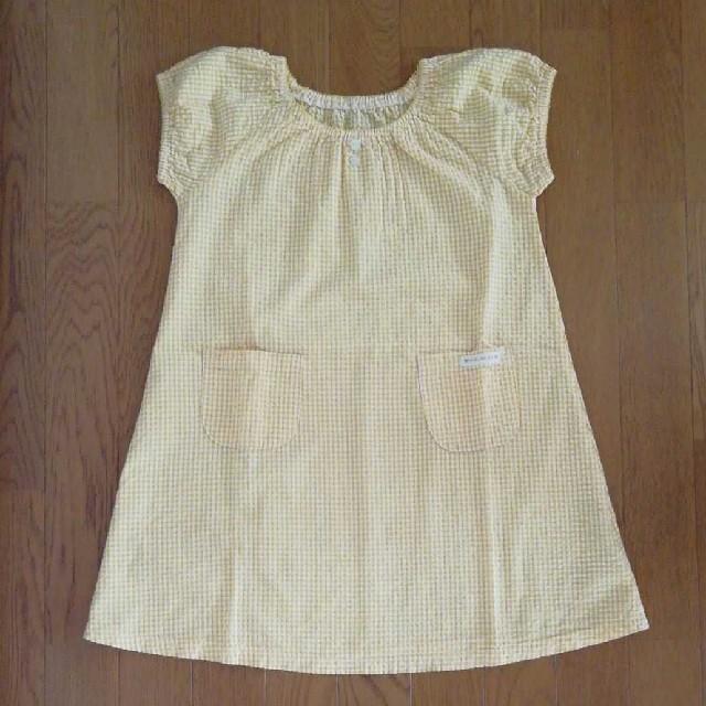mou jon jon(ムージョンジョン)の黄色ワンピ130 ワンピース130 ワンピ130  女の子130  女の子夏服 キッズ/ベビー/マタニティのキッズ服女の子用(90cm~)(ワンピース)の商品写真