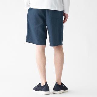 ムジルシリョウヒン(MUJI (無印良品))のMUJI(無印良品)フレンチリネンショートパンツ Lサイズ 新品未使用(ショートパンツ)