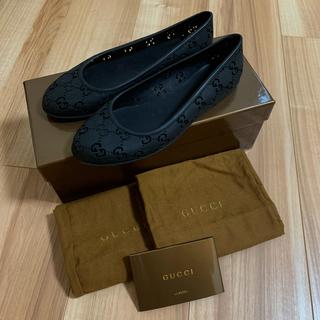 グッチ(Gucci)の美品GUCCI レインシューズ 36 ブラック(レインブーツ/長靴)