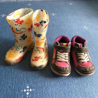 ディズニー(Disney)の★はるこ様専用★長靴14㎝♡スニーカー15㎝♡ジャンパーセット(長靴/レインシューズ)