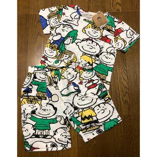 スヌーピー(SNOOPY)の【新品タグ付き】韓国子供服 スヌーピー パジャマ チャーリーブラウン ピーナッツ(パジャマ)