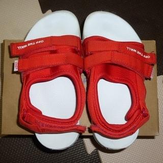 ヴァンズ(VANS)のVANS ヴァンズ スポーツサンダル 赤色 19cm(サンダル)