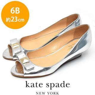 ケイトスペードニューヨーク(kate spade new york)のケイトスペード リボン ウェッジソール パンプス 6B(約23cm)(ハイヒール/パンプス)